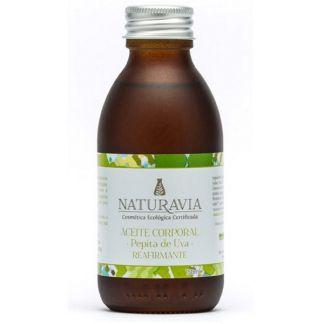 Aceite Corporal de Pepita de Uva Reafirmante Naturavia - 150 ml.