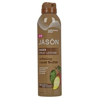 Loción Corporal de Manteca de Cacao Suavizante Jásön - Spray 177 ml.
