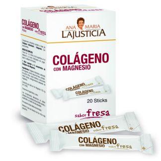 Colágeno con Magnesio Sabor Fresa Ana Mª. Lajusticia - 20 sticks