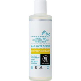 Champú y Gel de Baño para Bebé sin Perfume Urtekram - 250 ml.