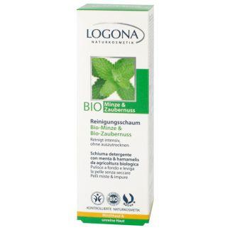 Espuma Limpiadora Menta & Hamamelis Bio Logona - 100 ml.
