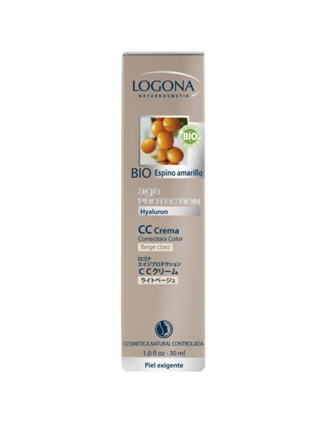 CC Crema Age Protection Beige Claro Logona - 30 ml.