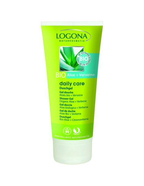 Gel de Ducha Aloe Bio & Verbena Daily Care Logona - 200 ml.