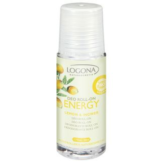 Desodorante Roll-on Limón & Jengibre Energy Logona - 50 ml.