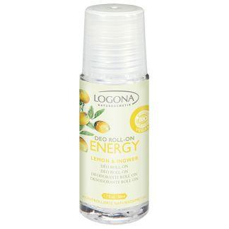 Desodorante Roll-on Limón & Jengibre Energy Logona - 50 ml.