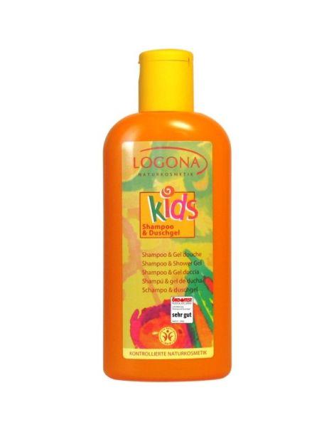 Champú & Gel de Ducha Kids Logona - 200 ml.
