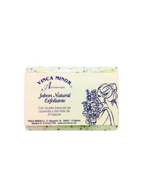 Jabón Exfoliante Vinca Minor - pastilla de 100 gramos