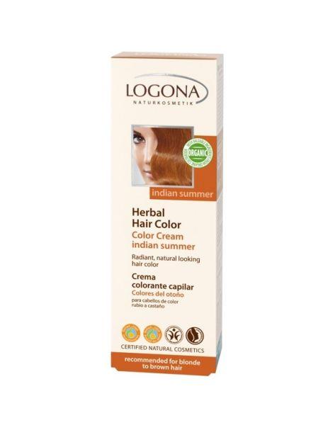 Colorante Vegetal en Crema Colores del Otoño Logona - 150 ml.