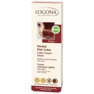 Colorante Vegetal en Crema Vino Tinto Logona - 150 ml.