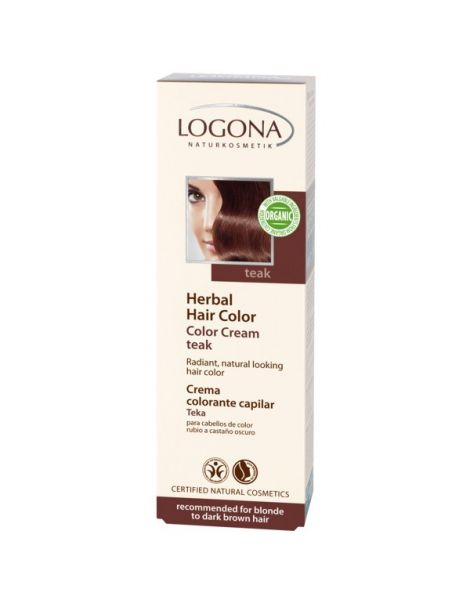 Colorante Vegetal en Crema Teka Logona - 150 ml.