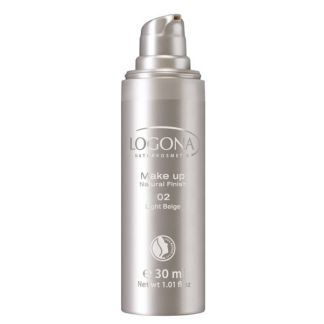 Maquillaje Fluido Natural Finish Light Beige 02 Logona - 30 ml.