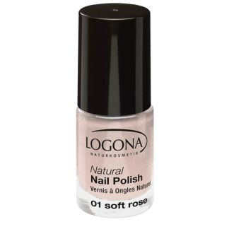 Esmalte de Uñas Natural Soft Rose 01 Logona - 4 ml.