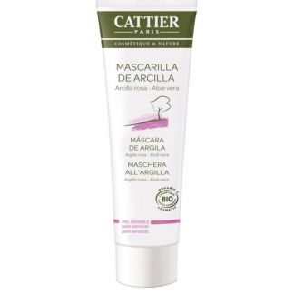 Mascarilla de Arcilla Rosa Piel Sensible Cattier - 100 ml.