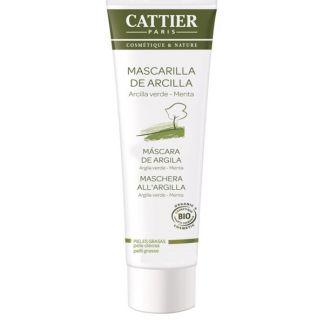 Mascarilla de Arcilla Verde Piel Mixta y Grasa Cattier - 100 ml.