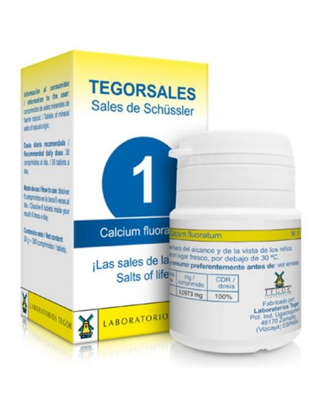 Sales de Shüssler (Calcium Fluoratum) Tegorsal 1 - 350 comprimidos