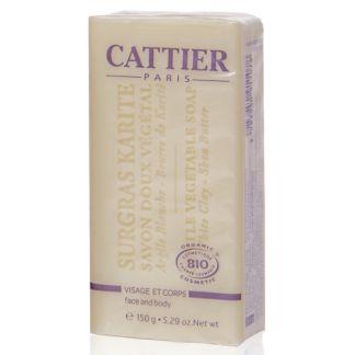 Jabón Vegetal Surgras Karité Pieles Secas Cattier - 150 gramos