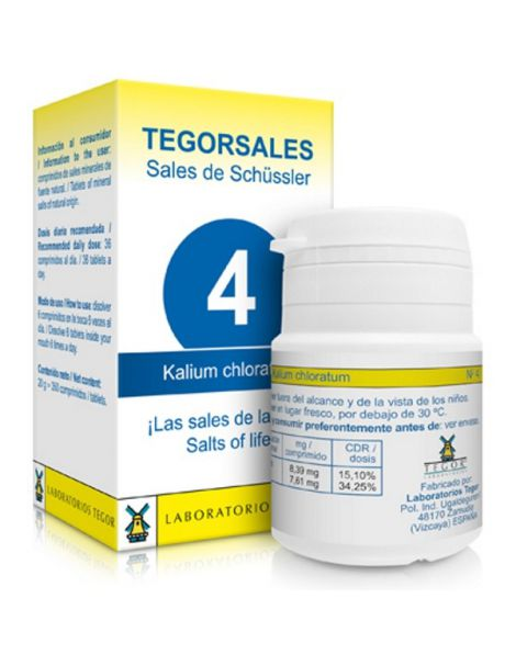 Sales de Shüssler (Kalium Chloratum) Tegorsal 4 - 350 comprimidos