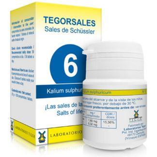 Sales de Shüssler (Kalium Sulphuricum) Tegorsal 6 - 350 comprimidos