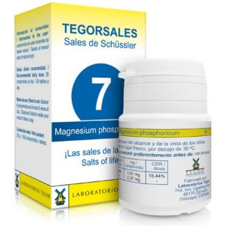 Sales de Shüssler (Magnesium Phosphoricum) Tegorsal 7 - 350 comprimidos