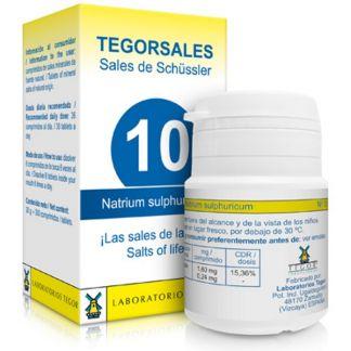 Sales de Shüssler (Natrium Sulphuricum) Tegorsal 10 - 350 comprimidos