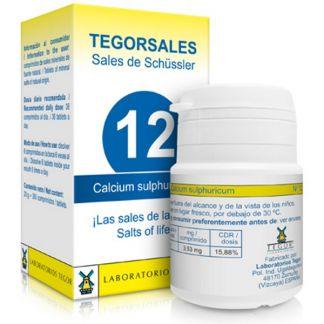 Sales de Shüssler (Calcium Sulphuricum) Tegorsal 12 - 350 comprimidos