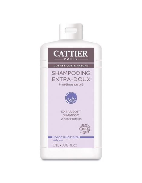 Champú Extrasuave Cattier - 1000 ml.