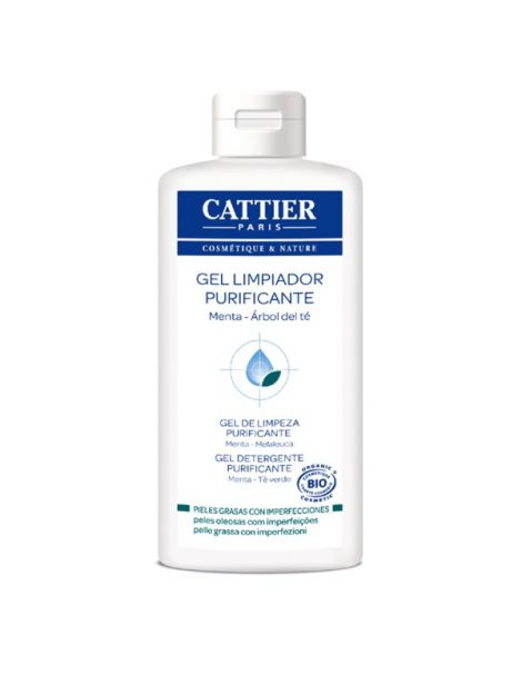 Gel Limpiador Purificante Menta-Árbol del Té Cattier - 200 ml.