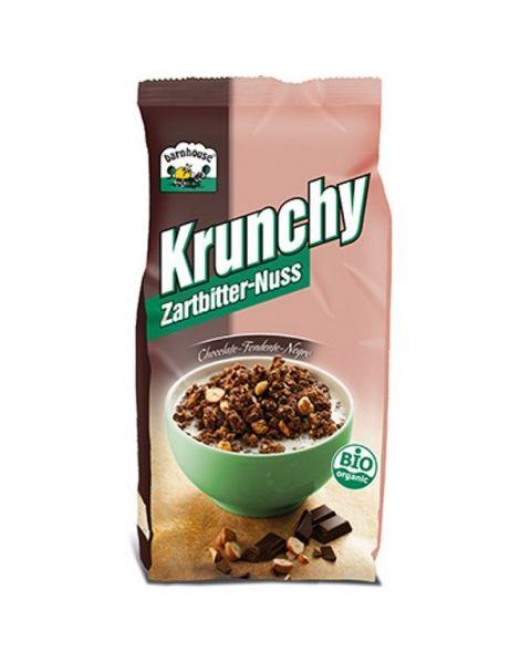Muesli Krunchy Chocolate Negro y Avellanas Bio Barnhouse - 375 gramos