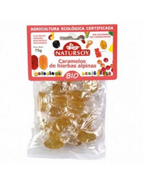 Caramelos de Hierbas Alpinas Bio Natursoy - 75 gramos
