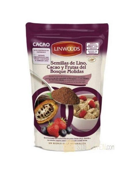 Semillas de Lino, Cacao y Frutas del Bosque Molidas Linwoods - 360 gramos