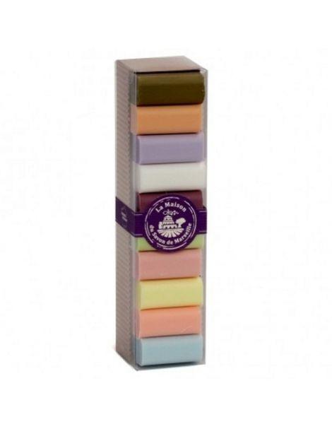 Jabón Mini Marsella de Pétalos de Rosa - pastilla de 30 gramos