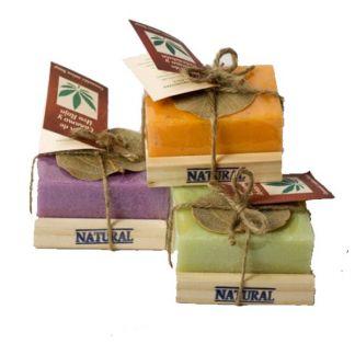 Jabón en Jabonera de Cáñamo y Aloe Vera Omamori - 100 gramos