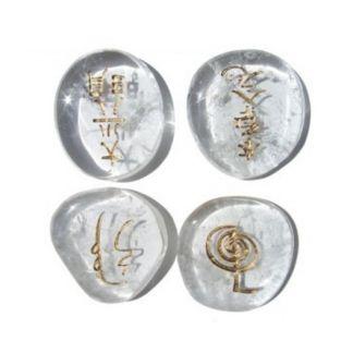 Set de Cristales de Cuarzo con Símbolos Reiki