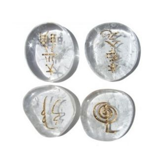Set de Cristales Símbolos Reiki de Cuarzo