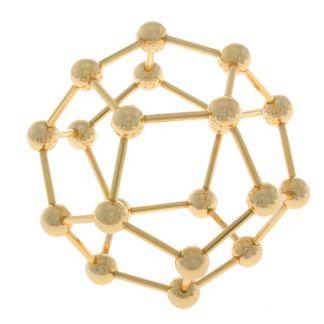 Dode de Metal Dorado (Dodecaedro)