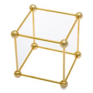 Cubo de Metal Dorado
