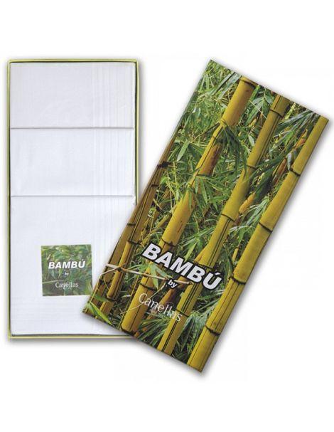 Pañuelos de Bambú para Caballero Blancos - 3 unidades