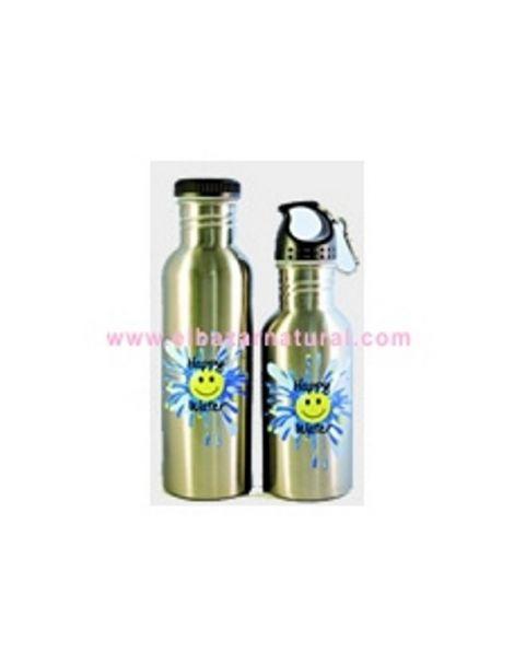 Botella Happy Water Plateada - 750 ml.