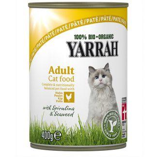 Comida para Gatos en Lata con Pollo Bio Yarrah - 400 gramos