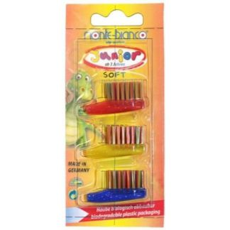 Recambios Cepillo Dental Niños Nylon Suave Monte-Bianco - 3 unidades
