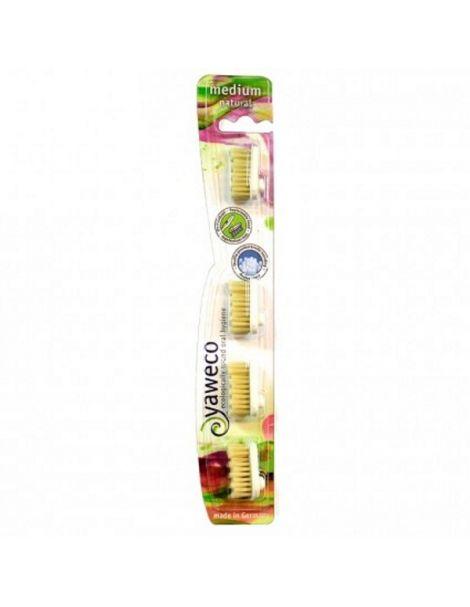 Recambios Cepillo Dental Nature Medio Yaweco - 4 unidades