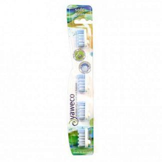 Recambios Cepillo Dental Nylon Suave Yaweco - 4 unidades