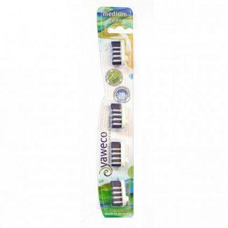 Recambios Cepillo Dental Nylon Medio Yaweco - 4 unidades