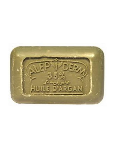 Jabón de Alepo 35% con Aceite de Argán - pastilla de 125 gramos
