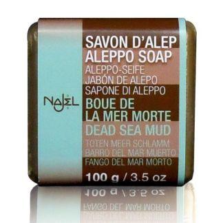 Jabón de Alepo con Barro del Mar Muerto Najel - pastilla de 100 gramos