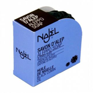 Jabón de Alepo con Nigella (Ajenuz) Najel - pastilla de 100 gramos
