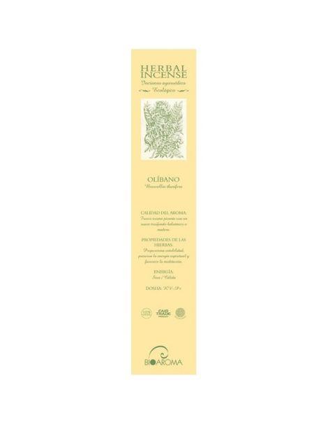 Incienso Ayurvédico Ecológico Olíbano BioAroma - 12 varillas