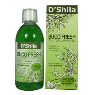 Colutorio Buco Fresh Salvia y Romero D'Shila - 500 ml.