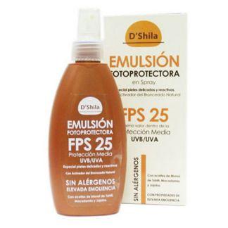 Emulsión Fotoprotectora SPF25 D'Shila - spray 200 ml.
