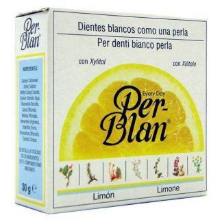 Dentífrico Blanqueante en Polvo Per-Blan Limón - 30 gramos